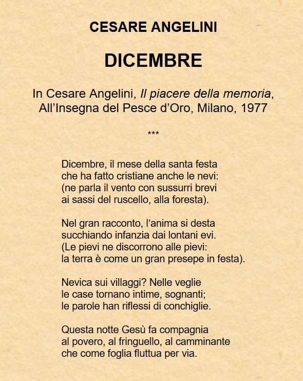 Poesie Consigliate